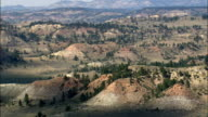 Red Rocks In Crow Indian Reservation  - Aerial View - Montana, Big Horn County, United States video
