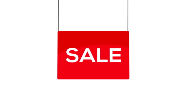 Red sale sign video