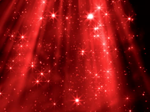 Red shafts of twinkling light video