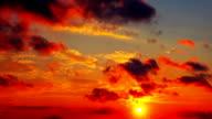 Red sky at sundown video