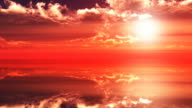 Red sky at sunset video