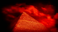 Red Sky Over Pyramid Esoteric Concept video