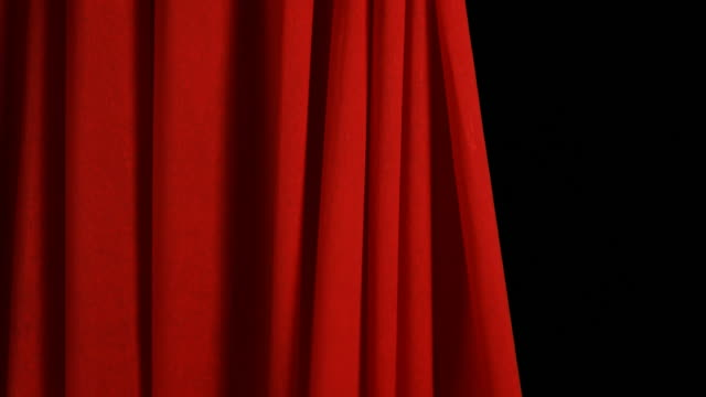 Red Stage Curtain opens and closes video