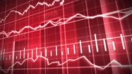 Red Stock Market Graph and Bar Chart video
