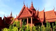 Red Temple in Phnom Penh, Cambodia video
