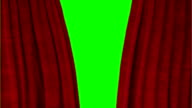 Red Theater Curtains Opening to Reveal Green Screen video