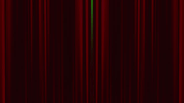 Red theatre curtains opening with chroma key background video
