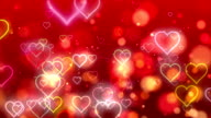 Red Valentine Flowing Hearts and Particles video