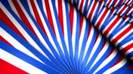 Red White and Blue Waving Banners video