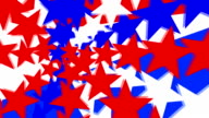 Red, White & Blue Stars Animated Background video