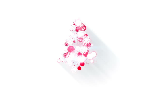 red white christmas tree shape loopable animation video