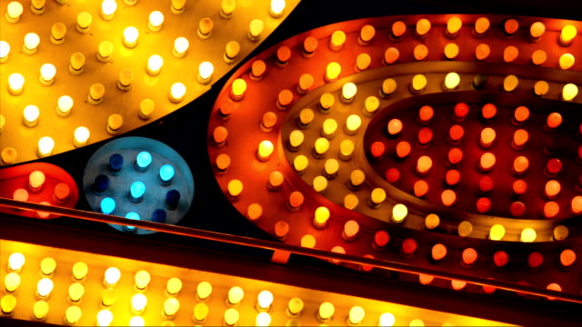 red yellow and blue marquee lights video