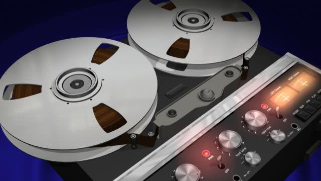 Reel Audio Recorder Scene (Loop HD) video