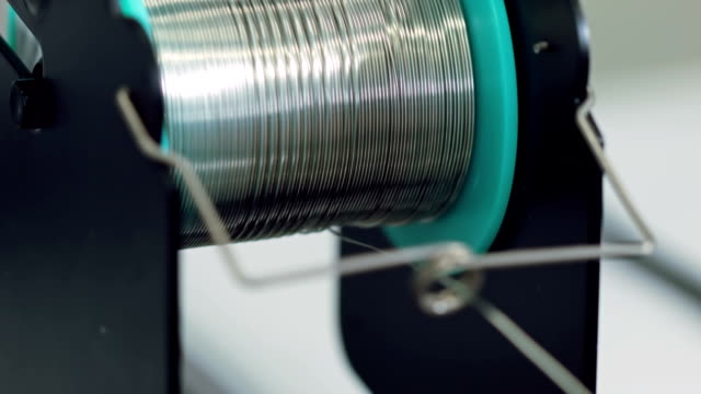 Reel of tin wire video