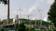 Refinery and Wind Turbines video