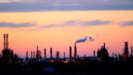 Refinery at Dusk video