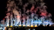 Refinery Night TIME LAPSE video