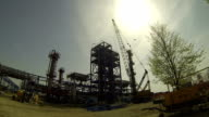 Refinery Plant Against the Sun video