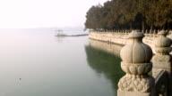 Reflection lake picture , winter view , Khunming lake, Beijing , China video