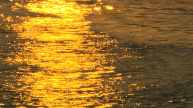 Reflection of the sun. Sunrise sunlight. video