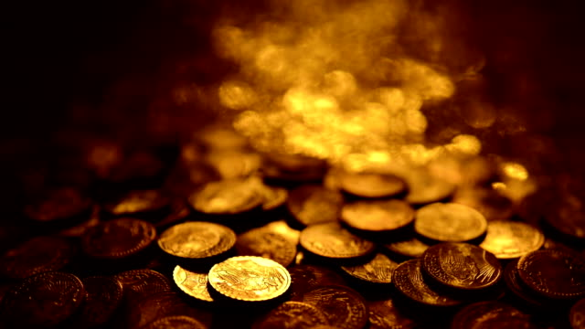 LOOPABLE: Reflections on gold coins video