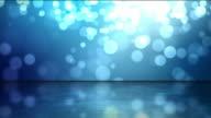 Reflective Floor Background Loop - Blue Glow (Full HD) video