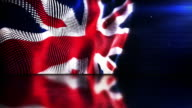 Reflective Floor Background Loop - The English Flag (Full HD) video