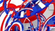 Reflective spinning shiny festive American Colors and Shapes. video