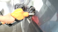 Refueling a car with unleaded petrol, Slow motion video