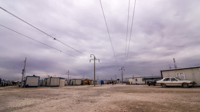 Refugee camp in Kurdistan video