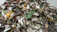 Refuse series - paper litter on a heap video