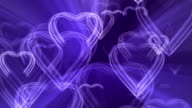 Regal Glowing Striped Heart Reveal Light Ray Loop video