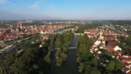 Regensburg And Stadtamhof District From The East video