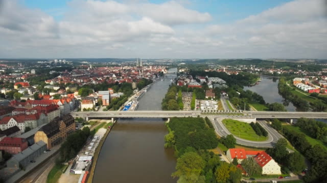 Regensburg And The Danube River From The East video