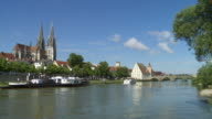 Regensburg Old Town And Danube River video