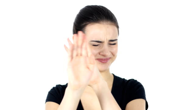 Rejecting, Denying Gesture, White Background video