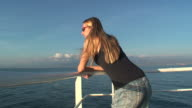Relax on the poop of a cruise ship video