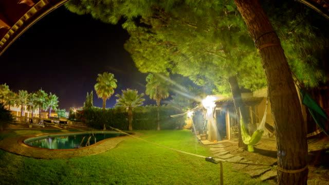 Relaxation corner in luxury backyard video