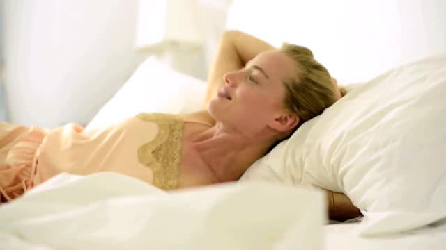 Relaxing in bed video