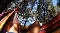 HD: Relaxing In Hammock On The Beach video
