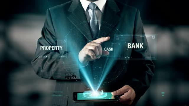 Reliability Success Concept Businessman using digital tablet technology futuristic background video