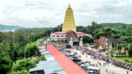 Religious Ceremony at Wat Wang Wiwekaram (Mon Temple) Time Lapse video
