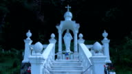 Religious place with beautiful white sculptures near Lvov video