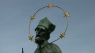 (HD1080i) Religious Statue: Saint John of Nepomuk, Zoom Out video