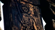 religious wood carving video
