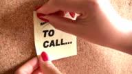 Reminder Post it video