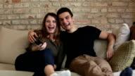 Remote Control Television Couple video