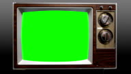 Remote Control Television on Chroma Key Green Screen video