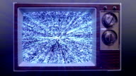 Remote Control Turning On TV Static video