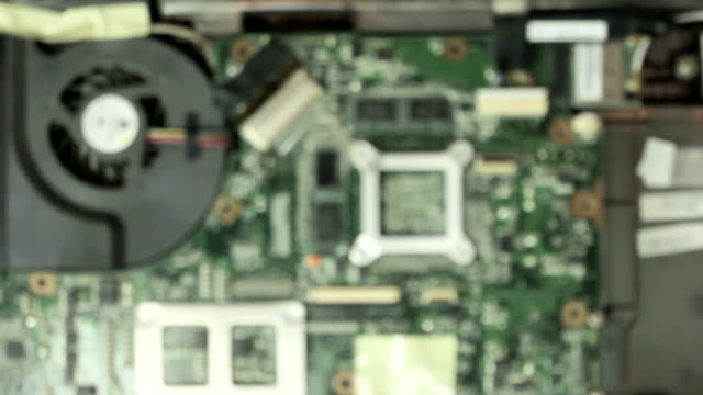 Removing ribbon cable of motherboard video